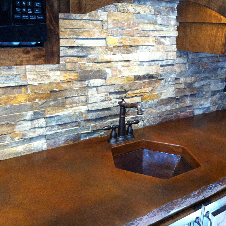 Ledgestone Kitchen Backsplash: Sherman Masonry Interior Stones